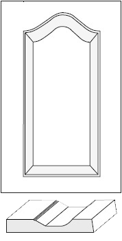 Cabinet Door: Fairview Cathedral Arch Raised Panel / MDF